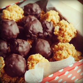 Peanut Butter Chocolate Crunchy Cereal Balls