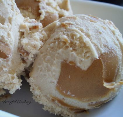 Peanut Butter and Maple Ice Cream
