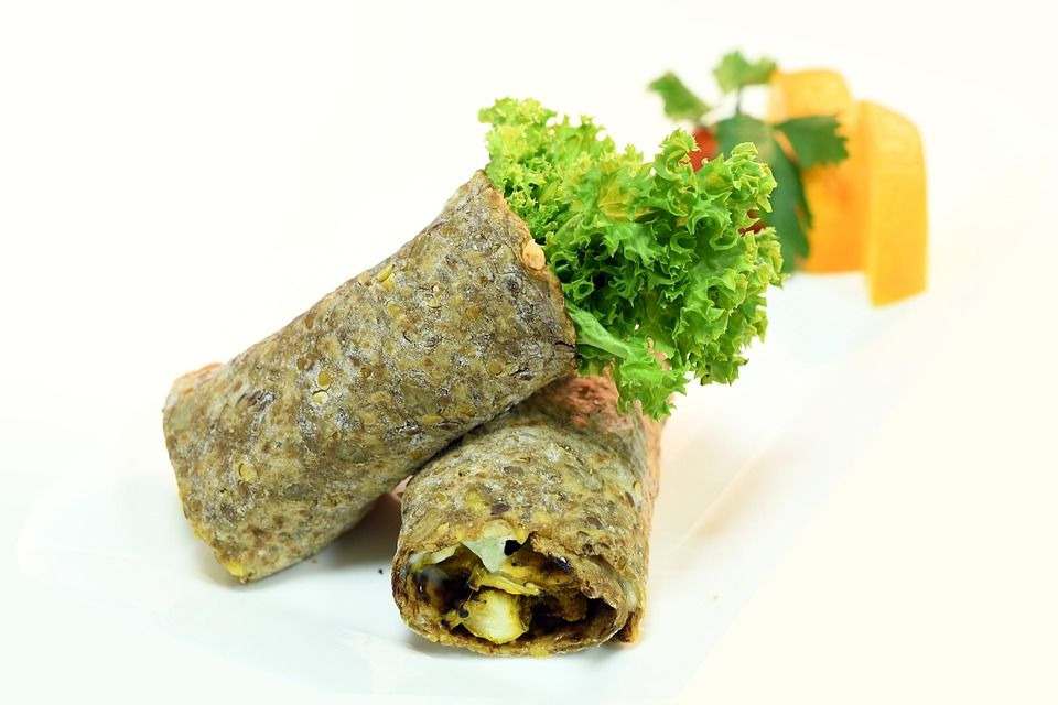 Healthy Hummus (or other) Wrap
