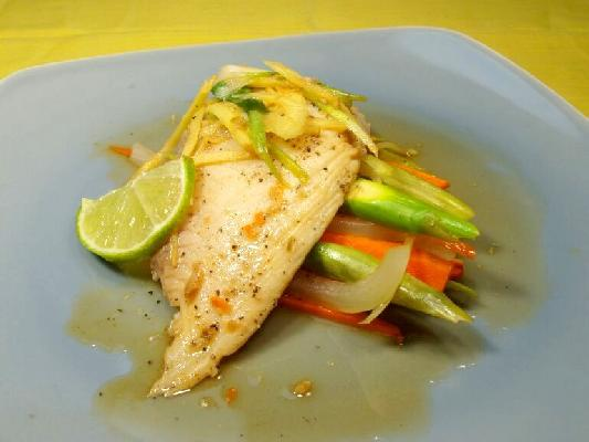Steamed Red Tilapia With Ginger & Scallion