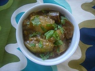 Curried Eggplant with Coconut Milk