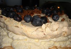 Meringue Daim Cake with Blueberries