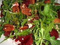 Beet Root Salad with Rucola, Feta Cheese and Pecan Nuts