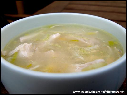Chicken, Corn & Leek Soup