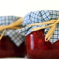 STRAWBERRY, RHU-BARB, & PINEAPPLE FREEZER JAM