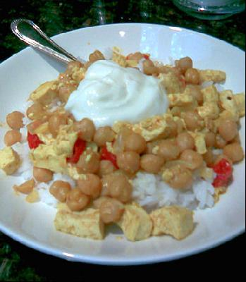 Curried Chickpeas and Tofu