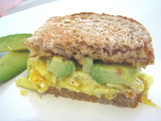 Avocado and Egg Sandwich with Tillamook Cheddar on Whole Wheat