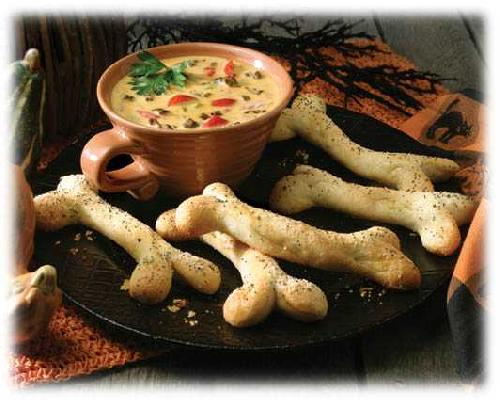 Bone Chillin' Breadsticks & Halloween Dip