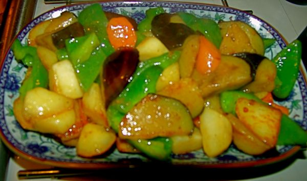 Di San Xian (Three fresh vegetables)