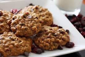 Pumpkin Cranberry Oatmeal Cookies