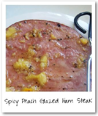 Bobby Flay's Spicy Peach Glazed Ham Steak