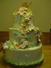 my 1st Wedding Cake used at Blaze and Darlings Anniversary