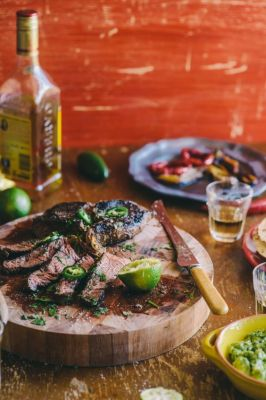 Tequila & Lime Marinated Steak with Avocado