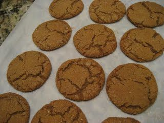 Justice S's Molasses cookies, modified from Joyofbaking.com