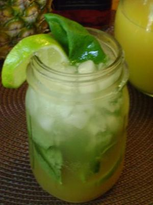 Mama Caruso's Mojito with Basil and Pineapple Juice