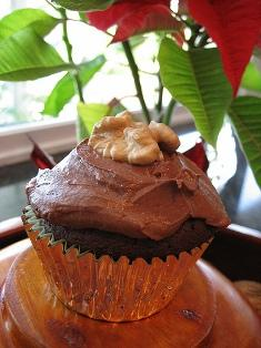 Plum Chocolate Cupcakes