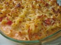 BAKED MACARONI AND TOMATOES