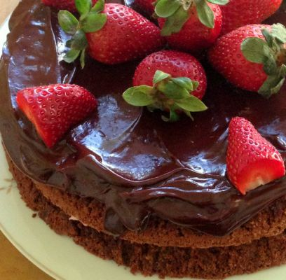 Strawberry Chocolate Torte