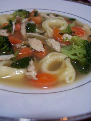 Cleaning Out the Fridge Chicken Tortellini Soup