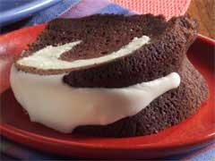 Chocolate Cream Cheese Tunnel Cake