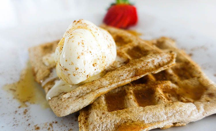 Low Carb Cinnamon Waffles