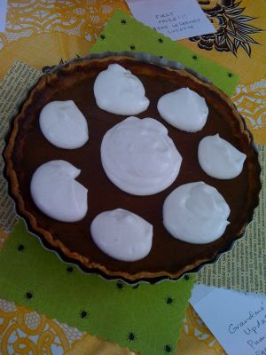 Pumpkin Pie with Eggnog Whipped Cream