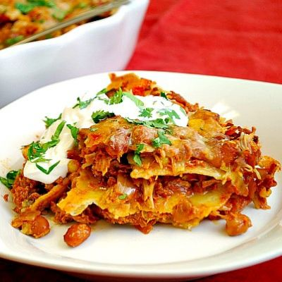 Spicy Chicken Mexican Lasagna