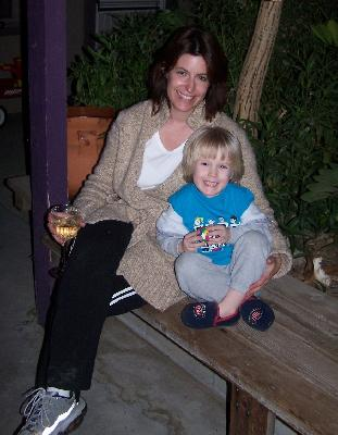 My bestest friend Stephanie and my godson Sam