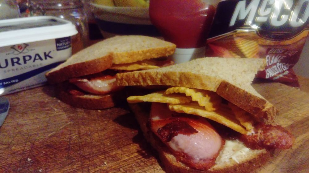 Bacon and Crisp Sandwhich