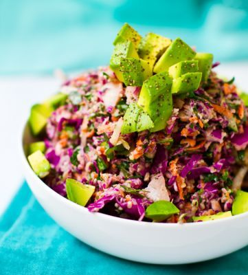 Rainbow Tahini Coleslaw Recipe
