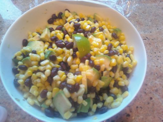 Weight Watcher's Corn and Black Bean Medley