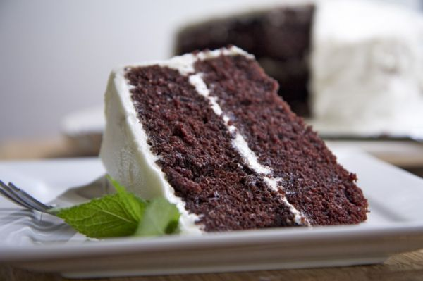 Moist and Fluffy Devils Food Cake