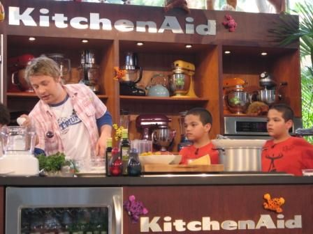 Jamie Oliver at the Fun & Fit Kitchen in Miami 2008