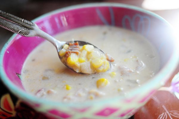 Corn Chowder with Chilis