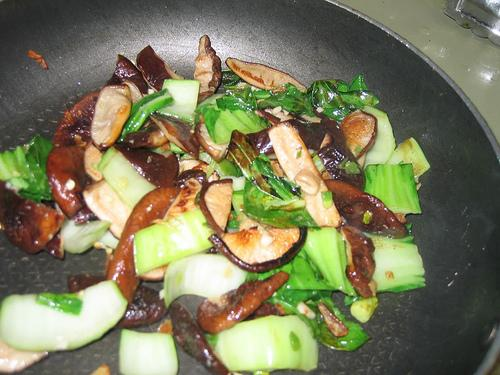 Bok Choy Stir-fry with Mushrooms
