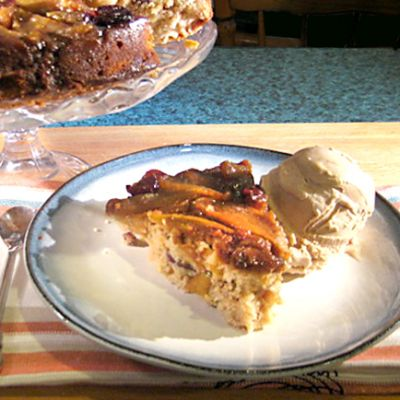 Apple Upside Down Cake with Five Spice Ice Cream