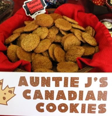 Canadian Maple Oatmeal Cookies