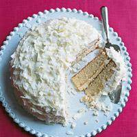 Buttermilk White Cake with Coconut
