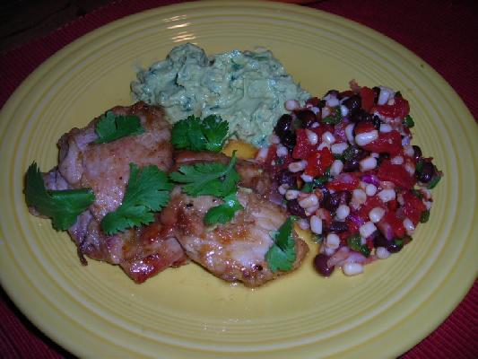 Cumin-dusted Chicken Breasts With Guacamole Sauce