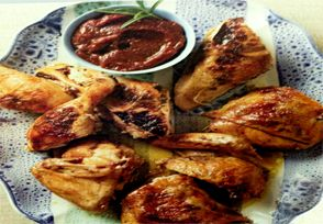 Rosemary Chicken with Fig Dipping Sauce