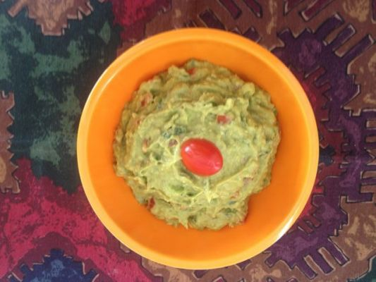Guacamole with Baby Tomatoes