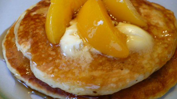 Peach & Brown Sugar Pancakes