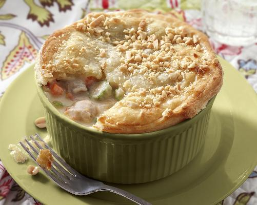 Turkey Brunswick Stew with Puff Pastry Crust