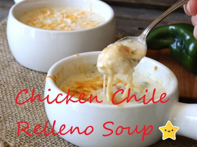 Chicken Chile Relleno Soup (Slow Cooker)