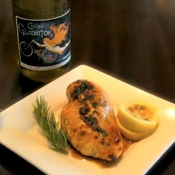 Chicken with Roasted Lemon & Rosemary Sauce