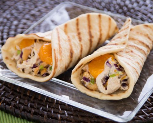 Grilled Cashew Chicken Wraps