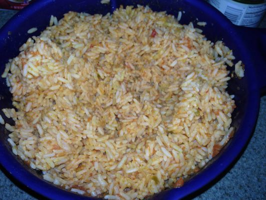 Microwace Mexican rice