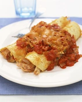 Cheesy Chicken & Chili Enchiladas
