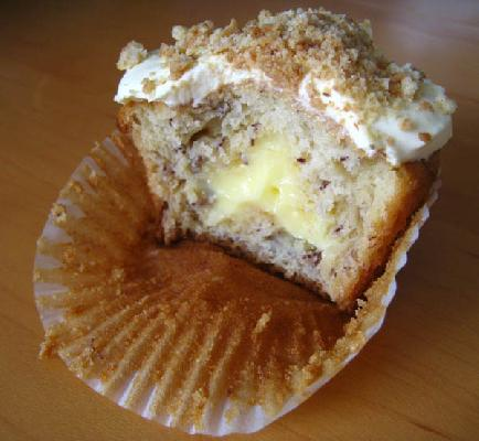 Banana Cream Pie Cupcake