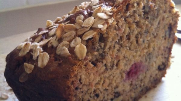 Banana Apple and Raspberry Loaf